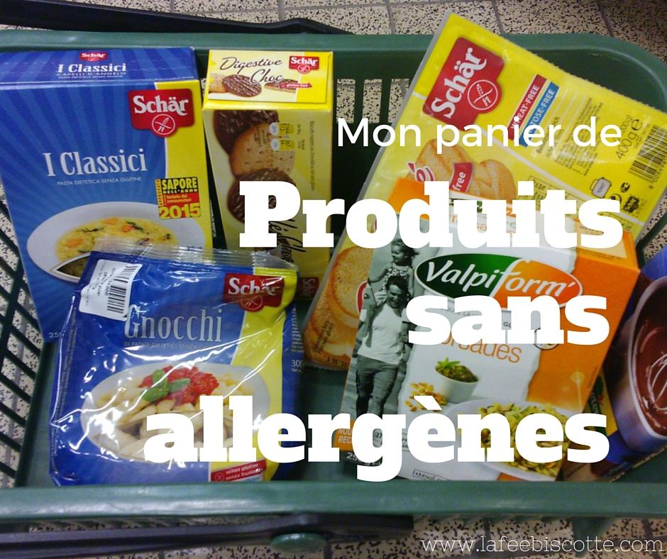 paniers produits sans allergènes. plv, fruits à coques
