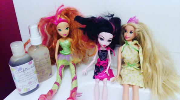 soin pour poupée, shampoing et savon poupées et barbie