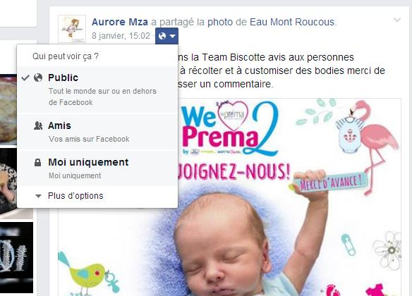 confidentialité facebook