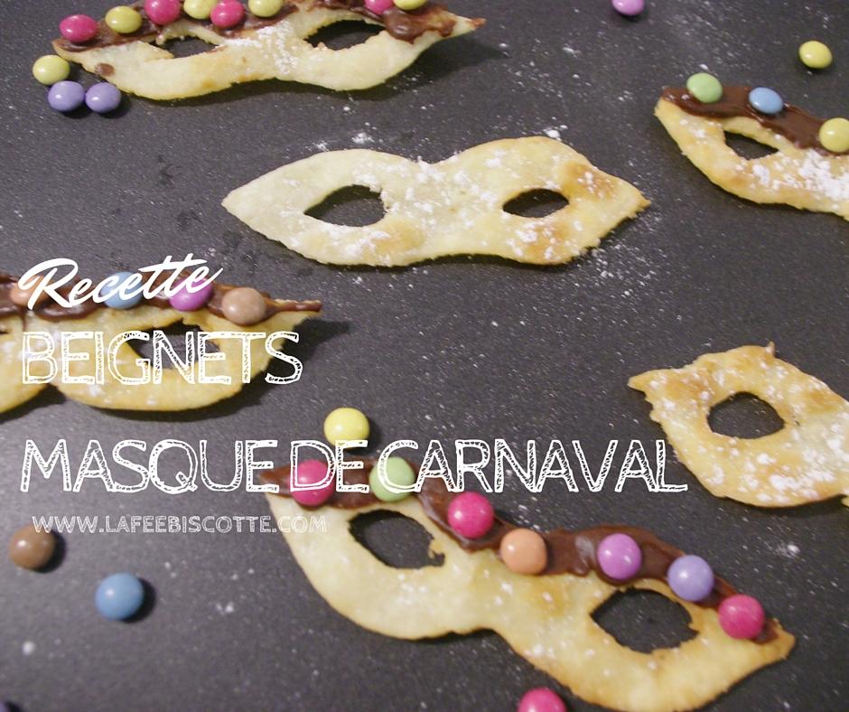 recette beignets masque carnaval