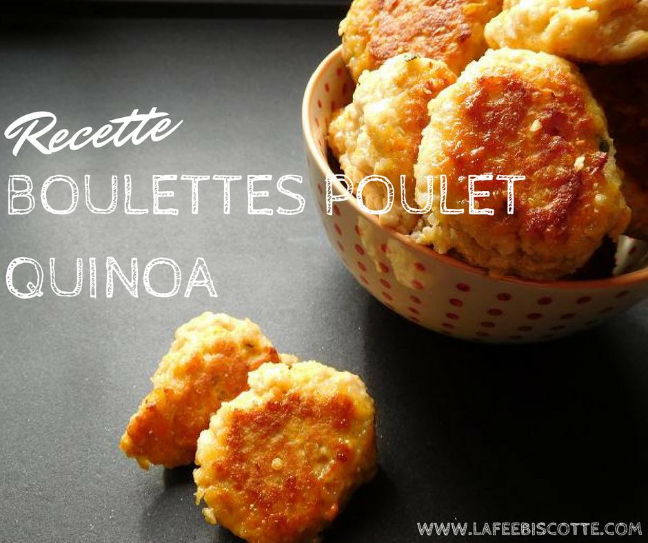 Recette boulette poulet quinoa carotte