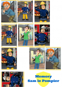 activité Sam le pompier à imprimer gratuitement