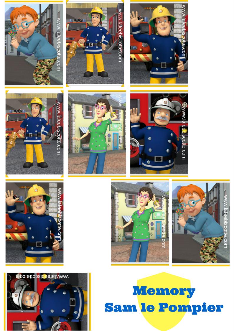 Sam Le Pompier Activitees Pour Enfant A Imprimer La Fee Biscotte