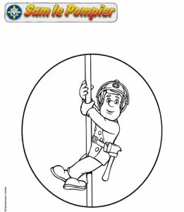 Coloriage Facile Sam Le Pompier.Sam Le Pompier Activitees Pour Enfant A Imprimer La Fee Biscotte