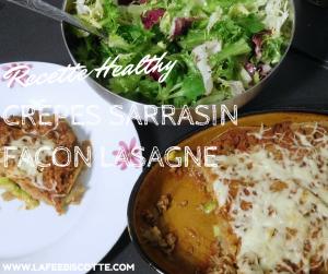 Crêpes sarrasin façon lasagne