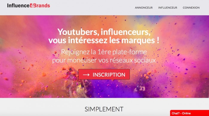 plate-forme de relation influenceurs influence4brands