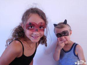 Masque ladybug et chat noir
