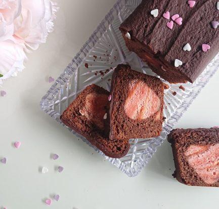 gâteau avec insert cœur
