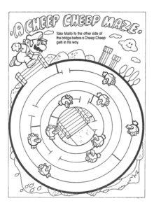 labyrinthe mario a imprimer